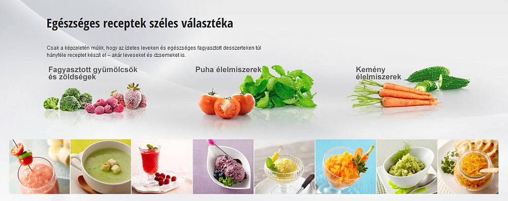 Egészséges receptek széles választéka