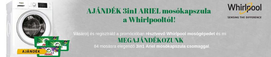 Whirlpool ajándék mosókapszula